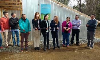 Se inaugura centro de acopio y secado de leña