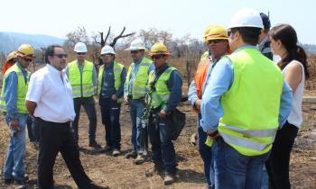 Recuperación de suministro eléctrico en Región del Biobío