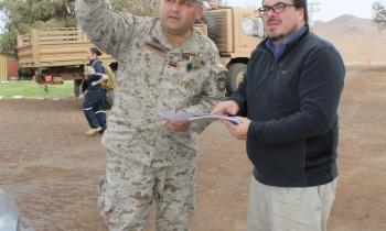 """Seremi de Energía de Arica y Parinacota visita 1era Brigada Acorazada """"Coraceros"""""""