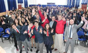 Ministro de Energía inaugura recambio de luminarias led en Liceo Insuco de Coquimbo