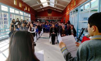 Concurso audiovisual sobre sostenibilidad energética distinguió a escuela municipal Elba Ojeda de Río Seco