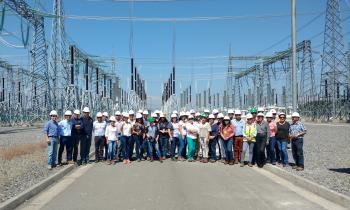 Profesionales del sector público visitan infraestructura energética